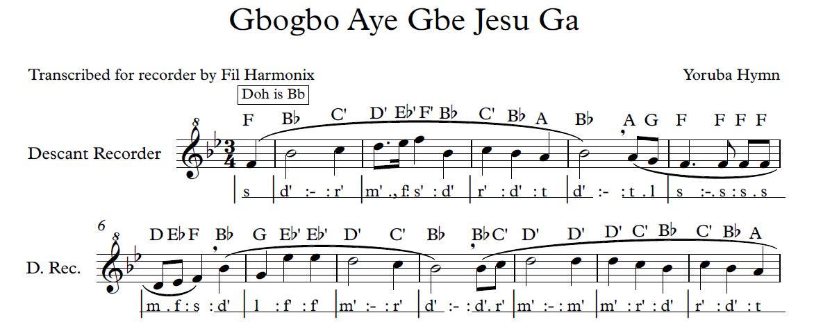 Gbogbo Aye Gbe Jesu Ga